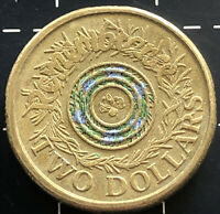 2017 AUSTRALIAN $2 TWO DOLLAR COIN - ANZAC REMEMBRANCE ROSEMARY BLUE / GREEN VF