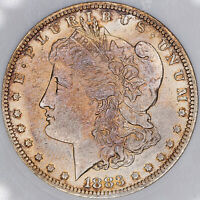 1883-O MORGAN SILVER DOLLAR ANACS MINT STATE 64 VAM-1A BEAUTIFUL TONED UNC BU CHOICE MR