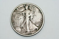 BETTER DATE & GRADE VF 1917 D OBV WALKING LIBERTY HALF DOLLA