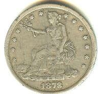1878 P TRADE DOLLAR XF DETAILS EARLY SILVER DOLLAR A LITTLE