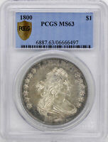 1800 DRAPED BUST $1 PCGS MINT STATE 63