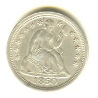 1850 SEATED LIBERTY DIME MS   IN GRADE SILVER TYPE COIN NO M