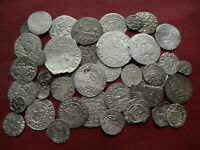 LOT OF 40 PCS MEDIEVAL SILVER COINS FROM 15 17TH CENTURY CEN