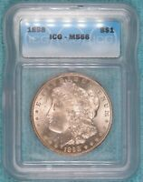 1898-P MINT STATE 66 MORGAN SILVER DOLLAR UNCIRCULATED UNC