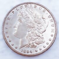 1894 S SUPER  DATE MORGAN SILVER DOLLAR 90  SILVER $1 COIN U