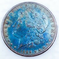 1889 CC CARSON CITY  DATE TONED MORGAN SILVER DOLLAR SILVER