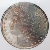 1885 MORGAN SILVER DOLLAR NGC MINT STATE 62 - TONED - DOUBLEJCOINS - 5009-41