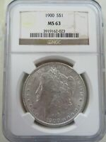1900 P SILVER MORGAN DOLLAR NGC MINT STATE 63