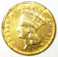 1878 INDIAN THREE DOLLAR GOLD COIN  $3    FINE DETAILS  DAMAGE     COIN