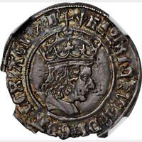 1505 09 ENGLAND GREAT BRITAIN FOUR PENCE GROAT. NGC AU 55.