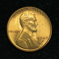 1948 S LINCOLN WHEAT CENT   BU RED   ITEM 1630
