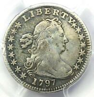 1797 DRAPED BUST HALF DIME H10C   CERTIFIED PCGS FINE DETAILS    DATE COIN