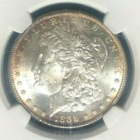 1888-S MORGAN SILVER DOLLAR  NGC MINT STATE 62 BEAUTIFUL COIN REF81-003