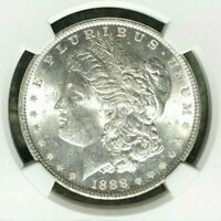 1888 VAM 18 NGC MINT STATE 62 MORGAN SILVER DOLLAR-GENE L HENRY LEGACY COLLECTION REF026