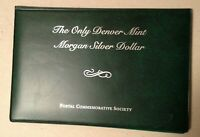 1921 D MORGAN DOLLAR COMMEMORATIVE SET WITH STAMPS UNC COIN