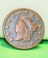 1829 US LARGE 1C VG CLEANED SCATCHES FILLER COIN