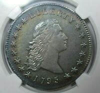 1795 $1 FLOWING HAIR NGC AU58 STAR COLOR