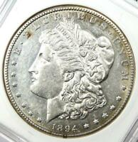 1894-S MORGAN SILVER DOLLAR $1 COIN - CERTIFIED ANACS AU58 -  DATE COIN