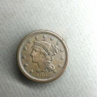 1852 BRAIDED HAIR LIBERTY LARGE CENT SMALL DATE