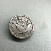 1851 BRAIDED HAIR LIBERTY LARGE CENT SMALL DATE