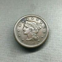 1854 BRAIDED HAIR LIBERTY LARGE CENT SMALL DATE