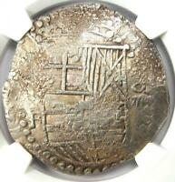 1605 13 BOLIVIA PHILIP III COB 8 REALES COIN  8R  KM 10   CERTIFIED NGC VF30