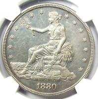 1880 PROOF TRADE SILVER DOLLAR T$1 COIN   CERTIFIED NGC PR58  PF58     DATE