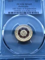 2019 100 YEARS OF REPATRIATION PCGS GRADED MS65 $2 COIN