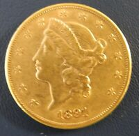 1891 S DOUBLE EAGLE $20 GOLD COIN