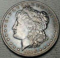 1888-O MORGAN DOLLAR-ABOUT UNCIRCULATED, DETAILS-KM 110-FREE US SHIP-AU