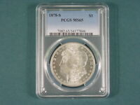 1878 S MORGAN DOLLAR PCGS MINT STATE 65 BLAST WHITE FLASHY GREAT EYE APPEAL PQ