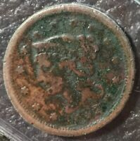 1852 BRAIDED HAIR LIBERTY LARGE ONE CENT EARLY COPPER PENNY 1C VG