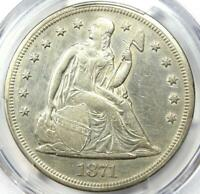 1871 SEATED LIBERTY SILVER DOLLAR $1 - CERTIFIED PCGS EXTRA FINE  DETAIL EF -  COIN