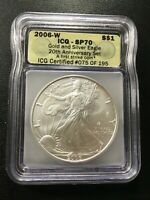 2006 W SILVER EAGLE ICG SP-70 - UNCIRCULATED - WEST POINT - CERTIFIED SLAB - $1