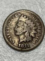 1871 INDIAN HEAD CENT PENNY SHIPS FREE