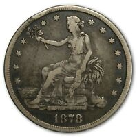 1878 S  TRADE DOLLAR $1 SILVER COIN   NICE ONE RIM HIT