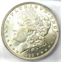 1893-O MORGAN SILVER DOLLAR $1 COIN - CERTIFIED ICG MINT STATE 62 UNC BU - $4750 VALUE