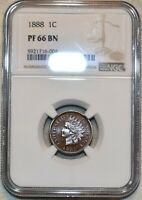 NGC PF 66 BN 1888 INDIAN HEAD CENT DEEPLY MIRRORED SUPER PRO