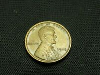 1918 ABOUT UNCIRCULATED AU OLD LINCOLN WHEAT CENT COPPER US COIN SHIPS FREE