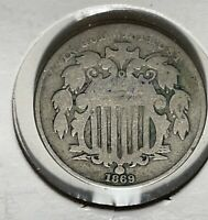 1869 5C SHIELD NICKEL GOOD CONDITION