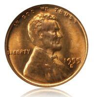 1955 S/S LINCOLN WHEAT CENT PENNY VARIETY MS65 RED RPM  3 ANACS CERTIFIED