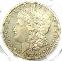 1893-S MORGAN SILVER DOLLAR $1 - CERTIFIED PCGS VF DETAILS -  KEY COIN