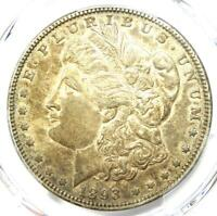 1893 MORGAN SILVER DOLLAR $1 COIN. CERTIFIED PCGS EXTRA FINE 45 EF45 -  DATE