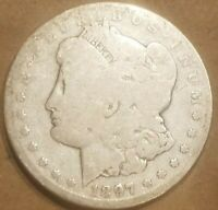 1897 S MORGAN SILVER DOLLAR LIBERTY HEAD $1 COIN AMERICAN EAGLE REVERSE