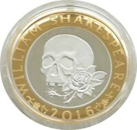 2016 WILLIAM SHAKESPEARE TRAGEDIES 2 TWO POUND SILVER PROOF
