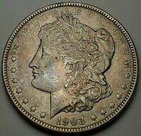 1903 MORGAN DOLLAR- FINE-KM 110-FREE USA SHIP-EXTRA FINE
