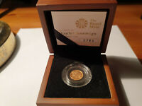ROYAL MINT 2011 PROOF QUARTER SOVEREIGN   BOXED AND COA