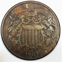 1864 TWO CENT PIECE BEAUTIFUL COIN RARE DATE