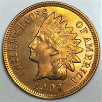1907 INDIAN HEAD PENNY BEAUTIFUL UNCIRCULATED COIN