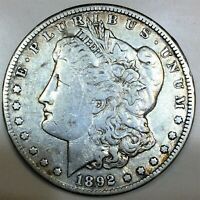1892 CC MORGAN SILVER DOLLAR BEAUTIFUL HIGH GRADE COIN RARE